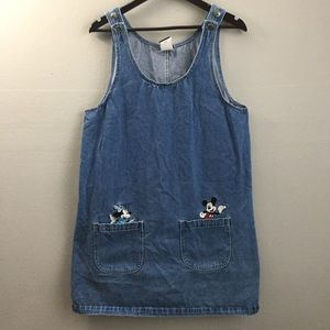 Vintage Mickey unlimited embroidered dress Large.